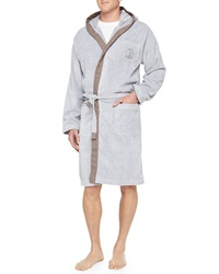 Brunello Cucinelli Men's Cotton Spa Robe Gray