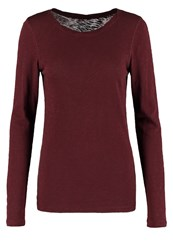 Marc O'polo Long Sleeved Top Dark Fall Leaf Bordeaux