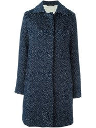 Odeeh Animal Pattern Coat Blue