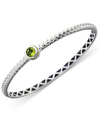 Effy Collection Effy Peridot Bangle Bracelet In 18K Gold And Sterling Silver 1 Ct. T.W.