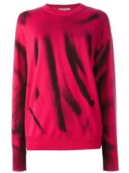 Moschino Trompe L'ail Jumper Pink And Purple