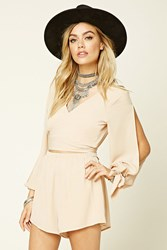 Forever 21 Reverse Cutout Wrap Romper