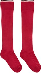 Isabel Marant Red Silk Zina Socks