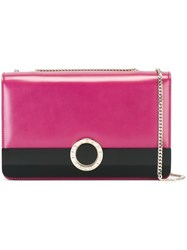 Bulgari Chain Strap Crossbody Bag Pink Purple