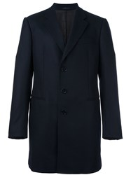 Armani Collezioni Single Breasted Coat Blue