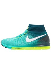 Nike Performance Zoom All Out Flyknit Cushioned Running Shoes Clear Jade White Midnight Turquoise