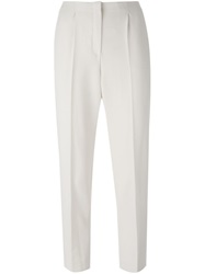 Lanvin Cropped Trousers Nude And Neutrals