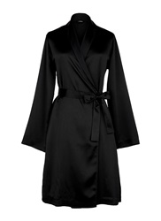 La Perla Silk Satin Short Robe Black