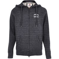 River Island Mens Grey Fleece Franklin And Marshall Zip Hoodie