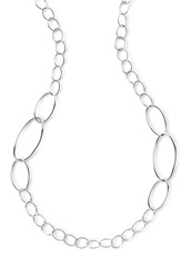 Ippolita 'Glamazon' Twisted Oval Link Necklace Silver