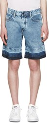 Diesel Blue Denim Bust Re Shorts