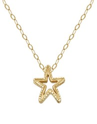 Lord And Taylor 14K Yellow Gold Starfish Charm Necklace