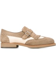 Brunello Cucinelli Buckle Detail Brogues Nude And Neutrals