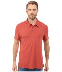 Michael Stars Short Sleeve Worn In Polo Brick Men's Short Sleeve Pullover Red