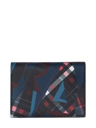 Salvatore Ferragamo Printed Leather Card Holder