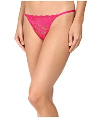 Betsey Johnson Starlet Lace Thong 722801 Dazzle Berry Women's Underwear Pink
