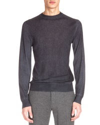 Berluti Cashmere Blend Crewneck Sweater Charcoal