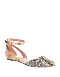 Enzo Angiolini Christaz Flats Natural Snake Gold