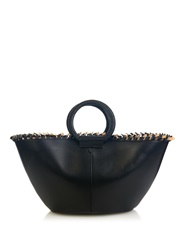 The Row Market Knotted Trim Leather Tote