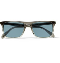 Oliver Peoples Bernado Square Frame Acetate Sunglasses Gray