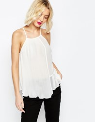 Asos Pleated Cami Top Ivory White