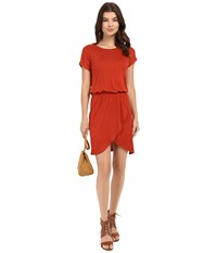 Only Thelma Short Sleeve Dress Ketchup Women's Dress Red