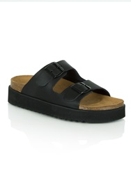 Daniel Hyde Park Two Strap Flatform Black