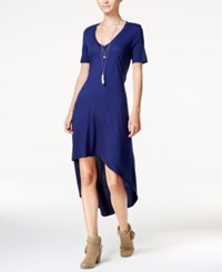 Chelsea Sky High Low Cutout T Shirt Dress Only At Macy's Navy