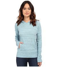 Mod O Doc Spacedyed Thermal Pullover Hoodie Blue Frost Women's Sweatshirt