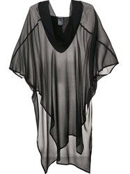 Ann Demeulemeester Sheer Tunic Dress Black