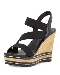 Charles By Charles David Time Espadrille Wedge Sandal Black
