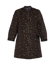 Morgan Retro Oversized Leopard Print Coat Brown