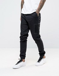 Asos Skinny Fit Cargo Jogger With Contrast Side Pockets In Black Black
