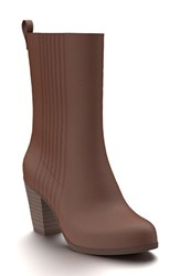 Shoes Of Prey Women's Mid Calf Boot Chocolate Leather