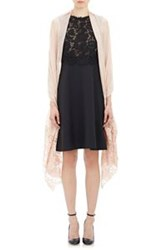 Valentino Women's Gauze And Lace Scarf Nude