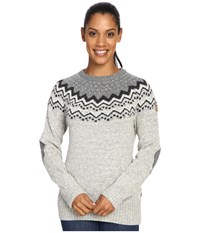 Fjall Raven Vik Knit Sweater Grey Women's Sweater Gray