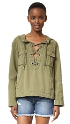 Free People Safari Pullover Green