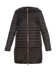 Moncler Dragonnet Quilted Down Coat Black