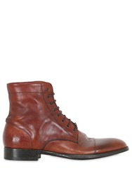 Rolando Sturlini Washed Leather Lace Up Boots