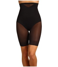 Miraclesuit Extra Firm Sexy Sheer Shaping Hi Waist Thigh Slimmer Black Women's Underwear