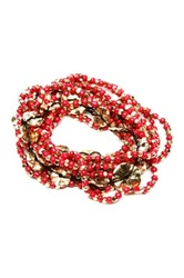 Amrita Singh Amelie Stretch Bracelet Set Red