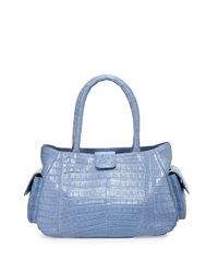 Nancy Gonzalez Small Crocodile Satchel Bag Lilac
