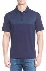 The North Face Men's 'Alpine Start' Flashdry Stretch Jersey Polo Cosmic Blue