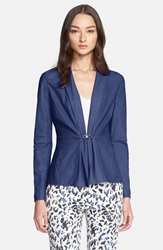 Armani Collezioni Nappa Leather Jacket Bluette