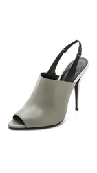 Narciso Rodriguez Cindy Slingback Sandals Slate Dove Grey