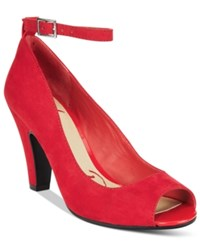 American Rag Willa Peep Toe Pumps Only At Macy's Women's Shoes Red