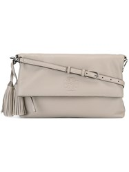 Tory Burch Tassel Detail Crossbody Bag Grey