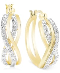 Victoria Townsend Diamond Woven Hoop Earrings 1 4 Ct. T.W. In Sterling Silver Or 18K Gold Over Sterling Silver