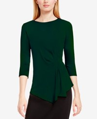 Vince Camuto Side Ruched Asymmetrical Top Forest Night