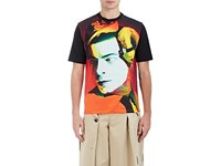 Loewe Men's Fish And Man Print Cotton T Shirt Black